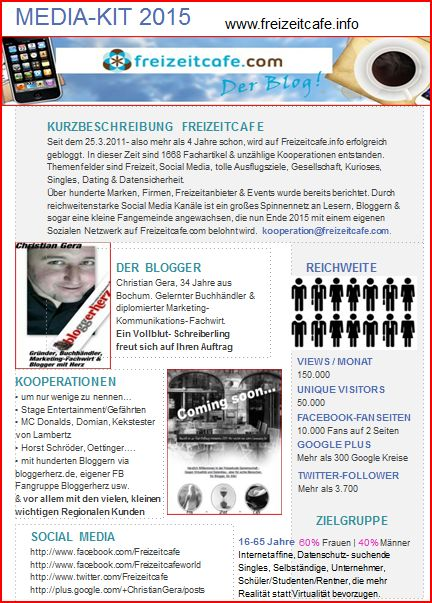 Neues Freizeitcafe Mediakit 2015