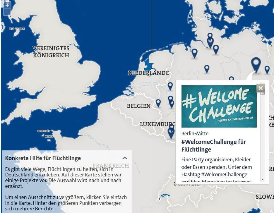 Deutschland hilft Flüchtlingen Freizeitcafe
