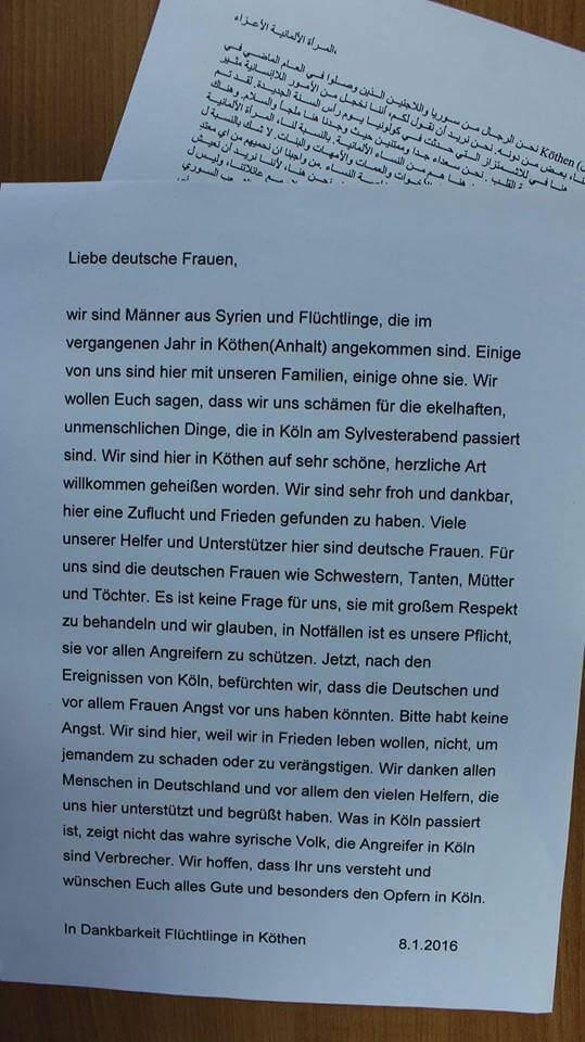 Offener Flüchtlingsbrief