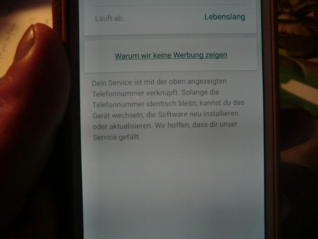 WhatsApp Sucht lebenslang