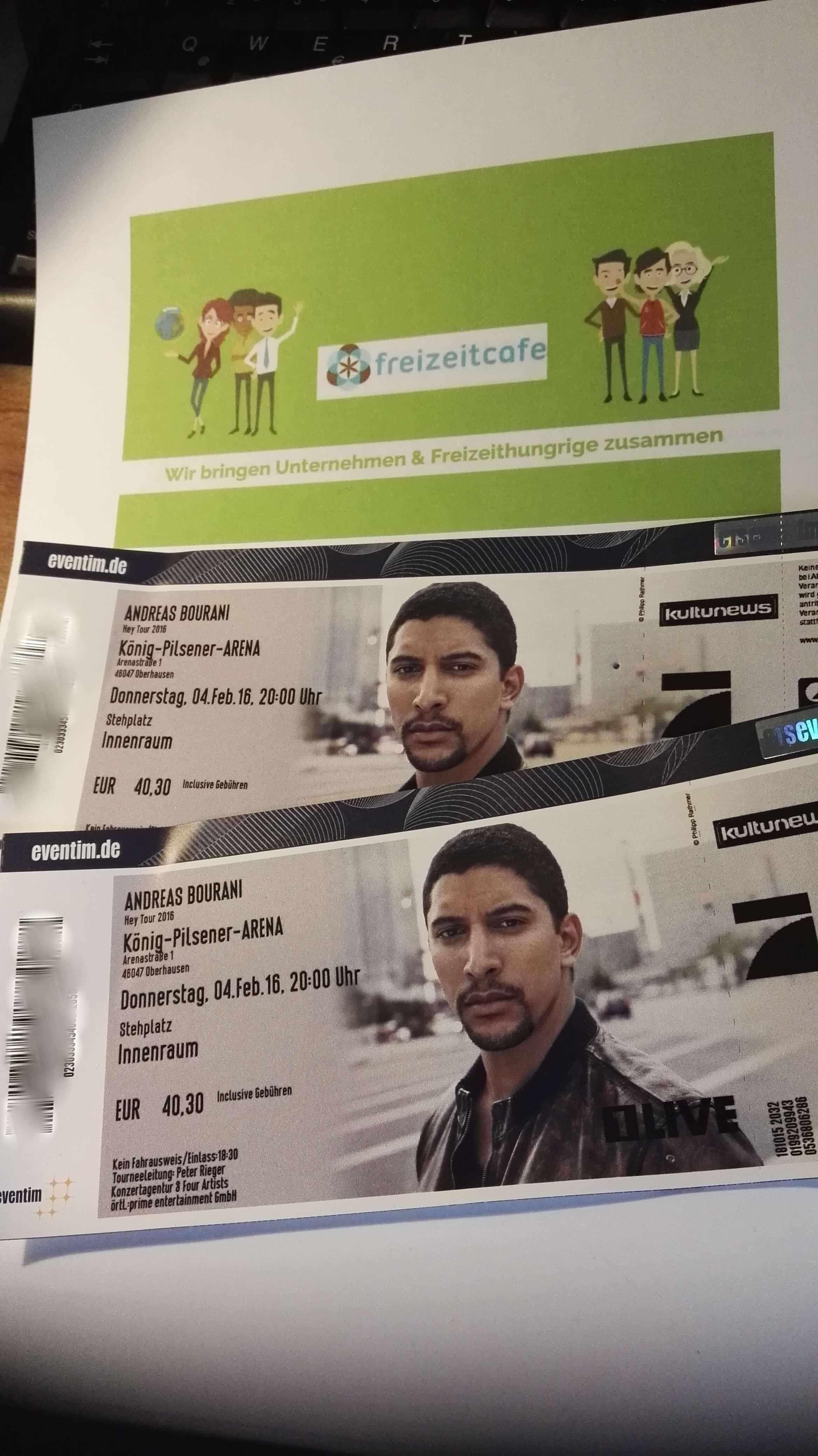 2x Andreas Bourani Tickets 20h Oberhausen zu verlosen!