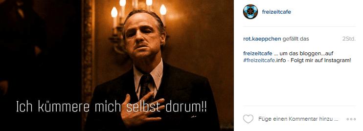 Freizeitcafe ab heute auf Instagram