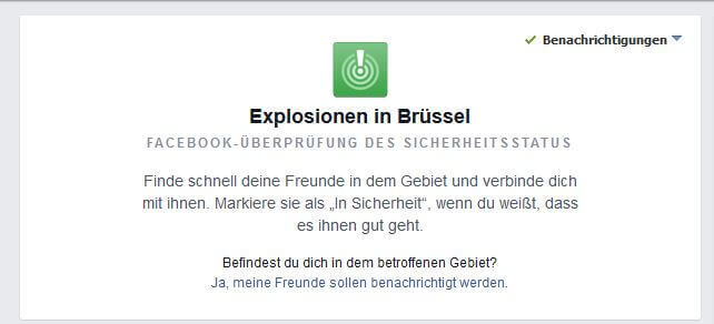 In Sicherheit Facebook