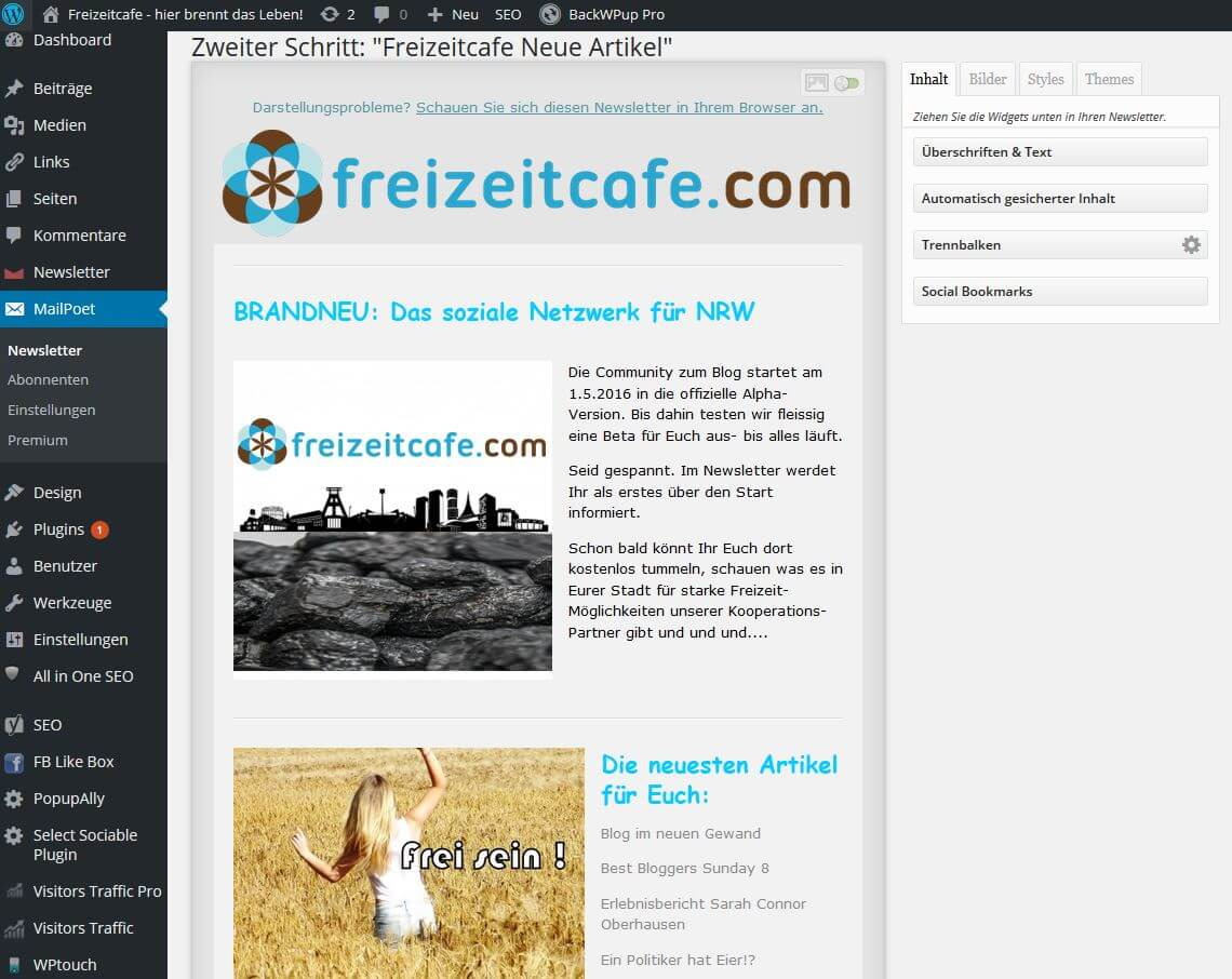 So erstellt Ihr den perfekten kostenlosen Newsletter plus PopUp Banner!