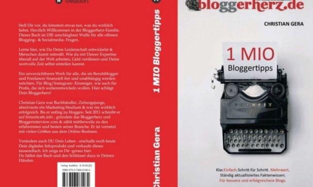 1MIO Bloggertipps nun im Buchhandel und auf Amazon