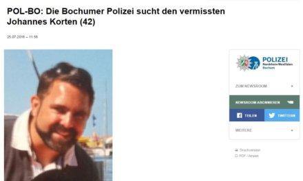 Blogger aus Bochum vermisst! Bitte melden!