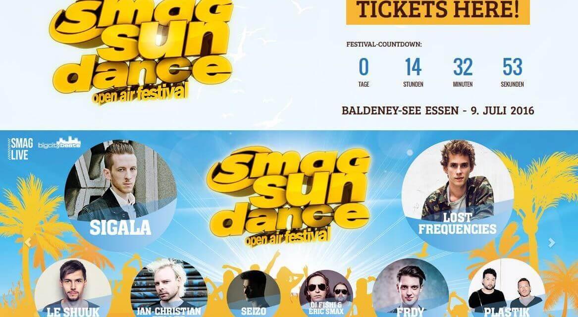 SMAG Sundance OpenAir-Festival 2016 am Seaside Beach