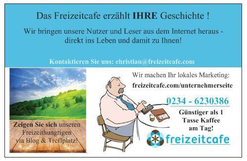 Freizeitcafe Visitenkarte back