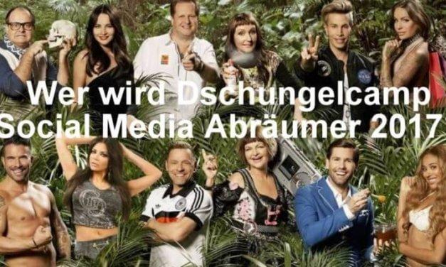 Der Dschungelcamp 2017 Social Media vorher nachher Vergleich!