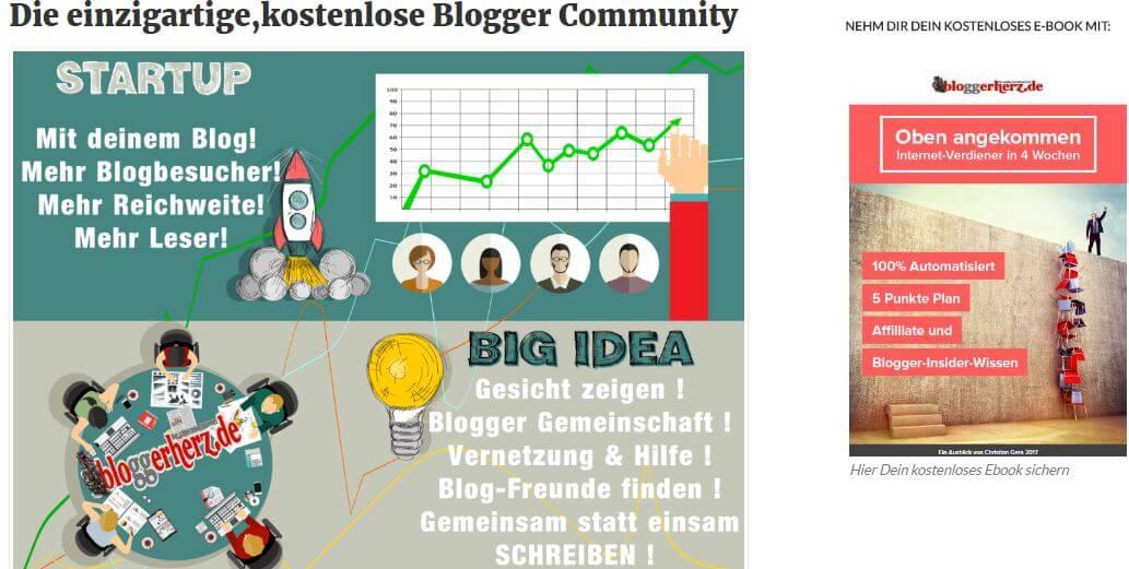 Blogger Plattform Bloggerherz startet weiter durch!