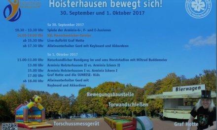Schönes Freizeit Event heute bei der Arminia Holsterhausen!