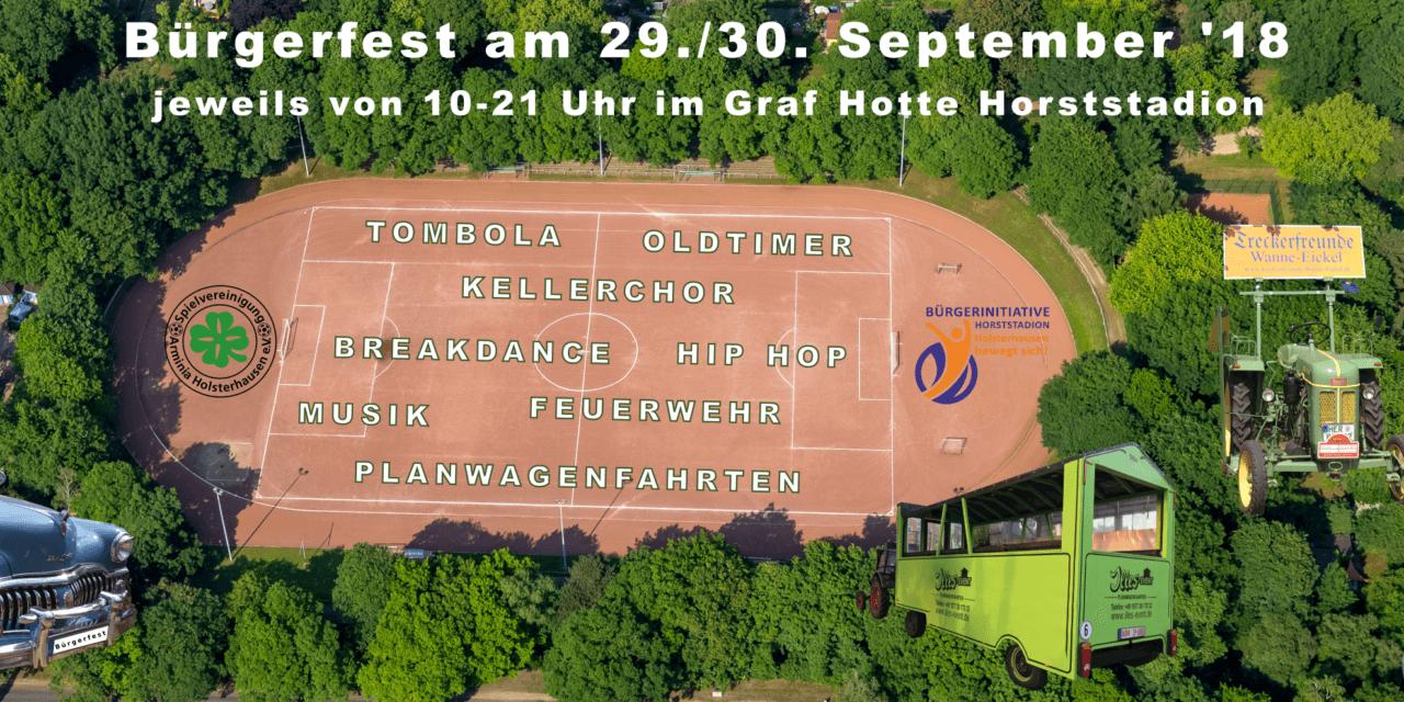Schöner Wochenend-Tipp: Bürgerfest im Horststadion