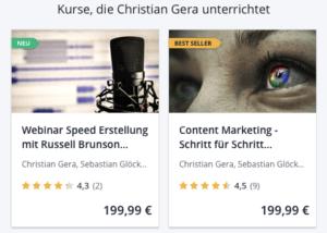Christian Gera auf Udemy