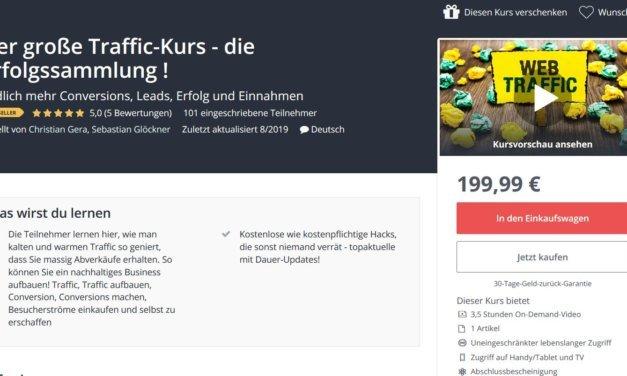 Christian Gera und Sebastian Glöckner starten erfolgreich mit Traffic-Kurs und Udemy Code durch
