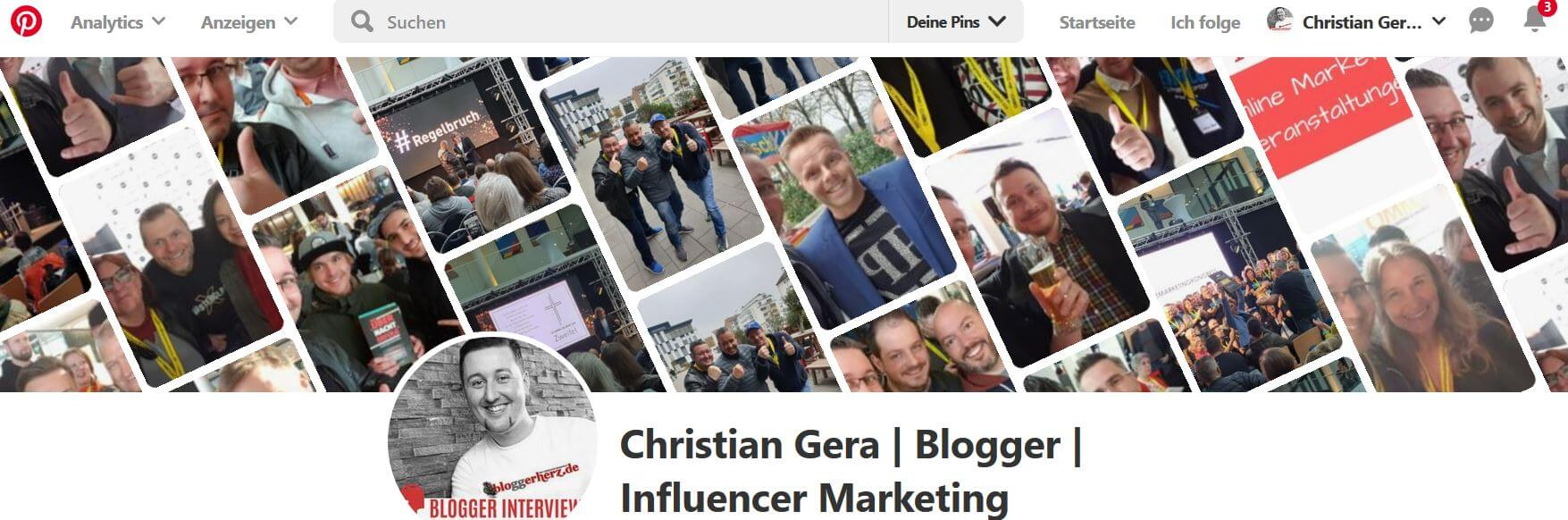 Pinterest Christian Gera Bloggerherz