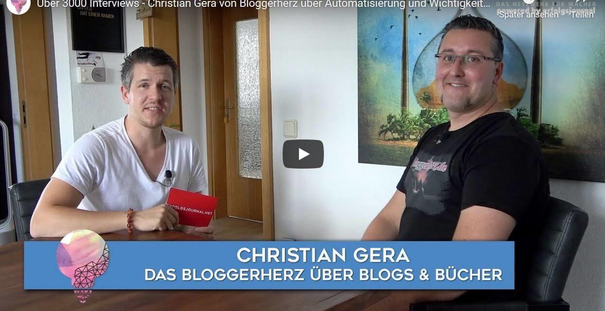 Christian Gera Erfolgsjournal Interview heute 18 Uhr