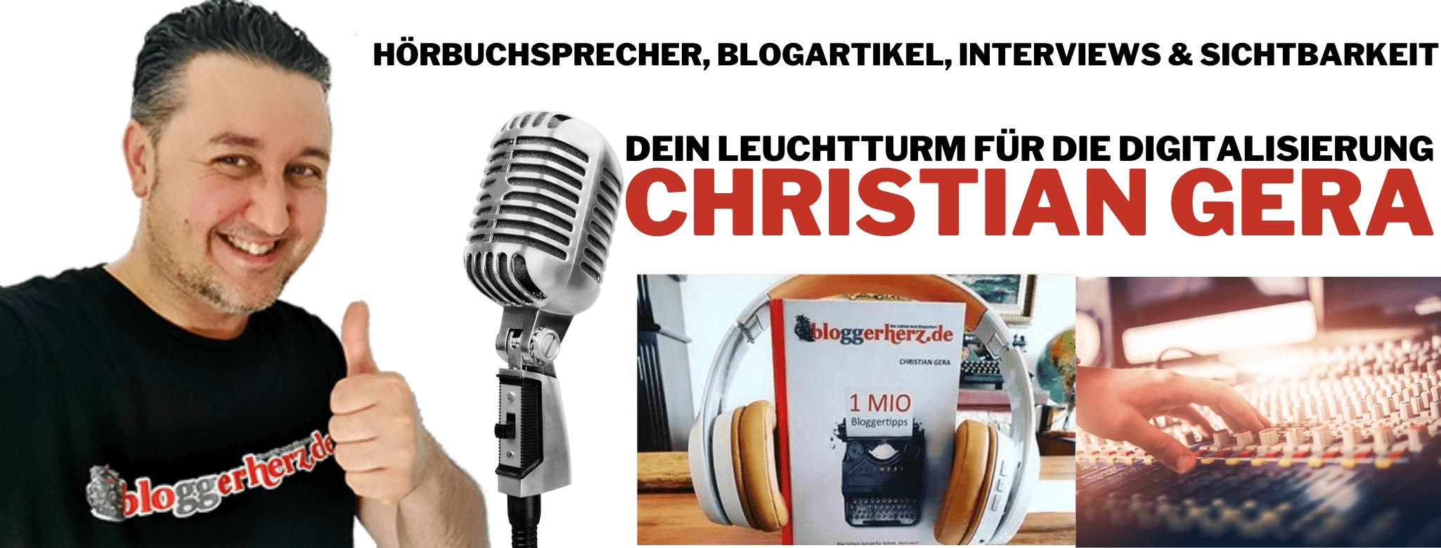 Hörbuchsprecher Christian Gera